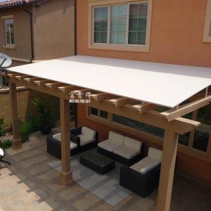 mái che cố định gỗ
