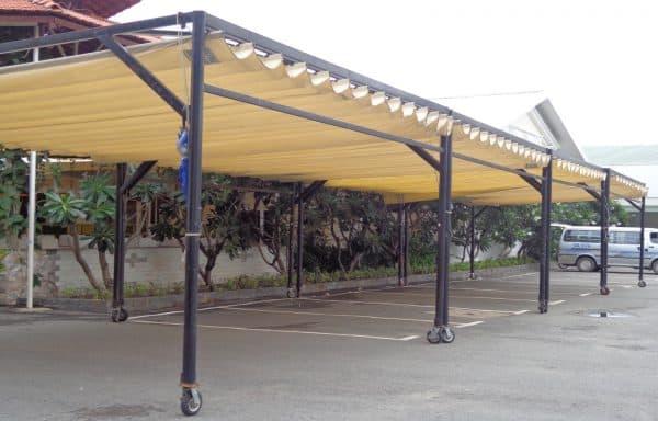 Mái Xếp Lượn Sóng Nhà Xe