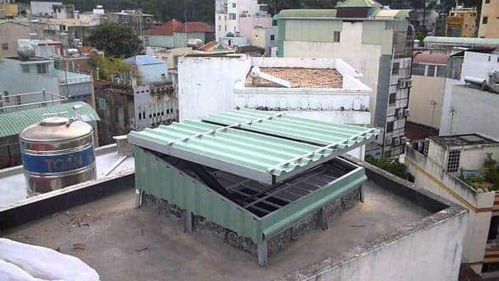 10+ mẫu mái che giếng trời